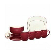 Colorwave Square 16 Piece Dinnerware Set