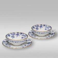 Blue Sorrentino 8 oz. Shallow Tea Cup & Saucer (Set of 2)