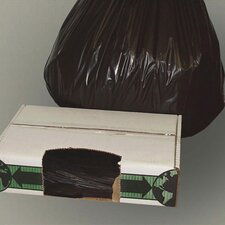 """40"""" x 48"""" Linear Low-Density Ecosac with 1.5 Mil in Black"""