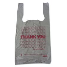 Plastic Thank You T-Sack in White (Set of 2000)