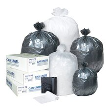 45 Gallon High Density Can Liner, 12 Micron in Black