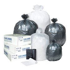 45 Gallon High Density Can Liner, 17 Micron in Black