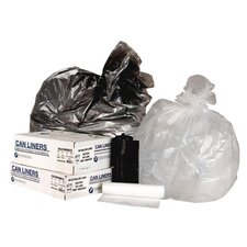 45 Gallon High Density Can Liner in Black