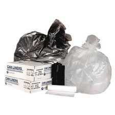 45 Gallon High Density Can Liner, 13 Micron Equivalent in Clear