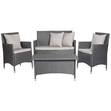Venice 4 Piece Deep Seating Group with Cushions