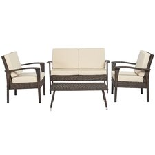 Nathaniel 4 Piece Deep Seating Group with Cushions