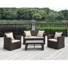 La Jolla 4 Piece Deep Seating Group with Cushions