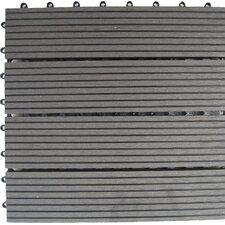 "Bamboo Composite 12"" x 12"" Deck Tiles in Grey"