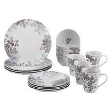 Shaded Garden 16 Piece Porcelain Dinnerware Set
