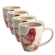 Chanticleer Country Stoneware Mug (Set of 4)