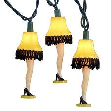 10 Light Christmas Story Leg Lamp Light