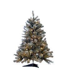"Pre-Lit 33"" Green Artificial Christmas Tree"