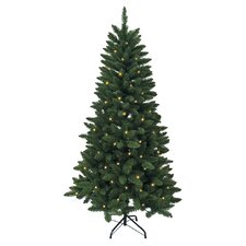 """Pre-Lit 72"""" Green Artificial Christmas Tree with LED"""