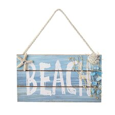 Wooden Beach Sign Ornament