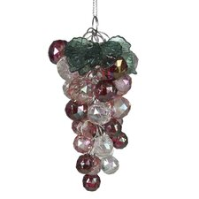 Iridescent Beaded Grapes Ornament