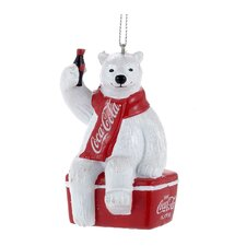 Coca-Cola Polar Bear on Cooler Ornament