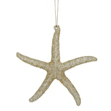 Acrylic Glitter Starfish Ornament
