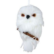Hanging Owl Ornament with Branch