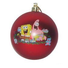 "3.15"" SpongeBob SquarePants Shatterproof Ball Ornament"