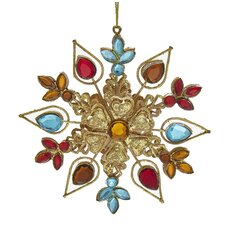 Metal Snowflake Ornament with Jewels