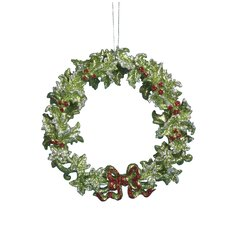 Acrylic Green Wreath Ornament