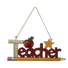 Resin Teacher Ornament