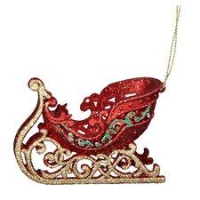 Acrylic Sleigh Ornament