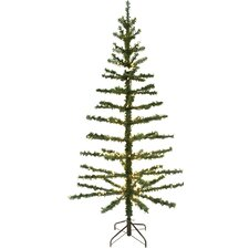 "Pre-Lit 84"" Green Artificial Christmas Tree"