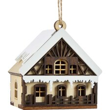 Wood Forest Cottage House Ornament