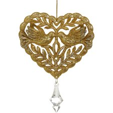 Heart Ornament with Doves