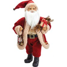 Santa with Lamp and Gift Box