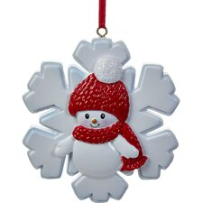 Snowboy on Snowflake Ornament