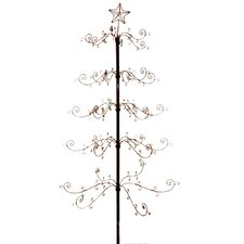 "84"" Black Artificial Christmas Tree"