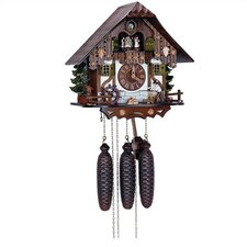 "12.5"" Chalet 8-Day Movement Cuckoo Clock with Wood Chopper"