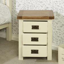 New Hampshire 3 Drawer Bedside Table