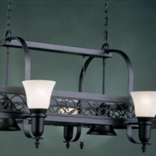 Odysee Rectangular Hanging Pot Rack with 6 Lights