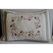 Nancy Flower Embroidery Quilt-Standard Sham