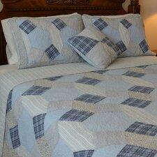 Glenda Patchwork Reversible Quilt-Standard Sham