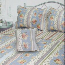 Berkely Floral Stripe Quilt