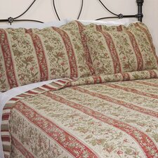 Cary Floral Stripe Quilt