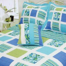 Ocean Square Patchwork Quilt Collection