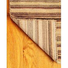 Wool Tabriz Brown/Tan Area Rug