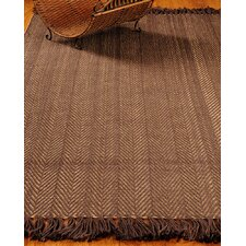 Graphic Brown/Tan Stripes Area Rug