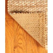 Jute Garnet Wool Beige Area Rug