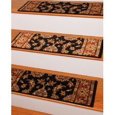 Sydney Black Classic Persian Stair Tread (Set of 13)