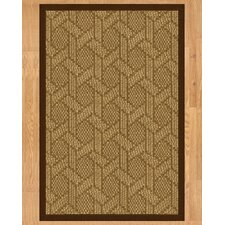 Seattle Hand Crafted Brown Area Rug