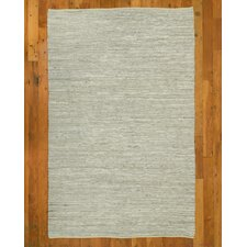 Hand-Loomed White Area Rug