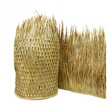 """2'6"""" x 4' Mexican Palm Thatch Runner Roll (Set of 2)"""