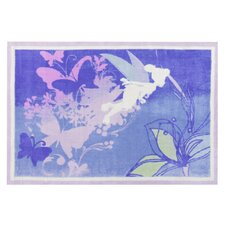 Tinkerbell Magical Silhouette Area Rug
