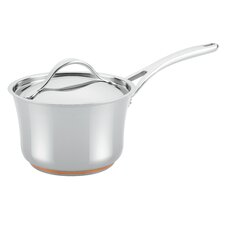 Nouvelle Copper Stainless Steel 3.5-qt. Covered Saucepan with Lid